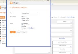 Blogger  Popular Posts widget option