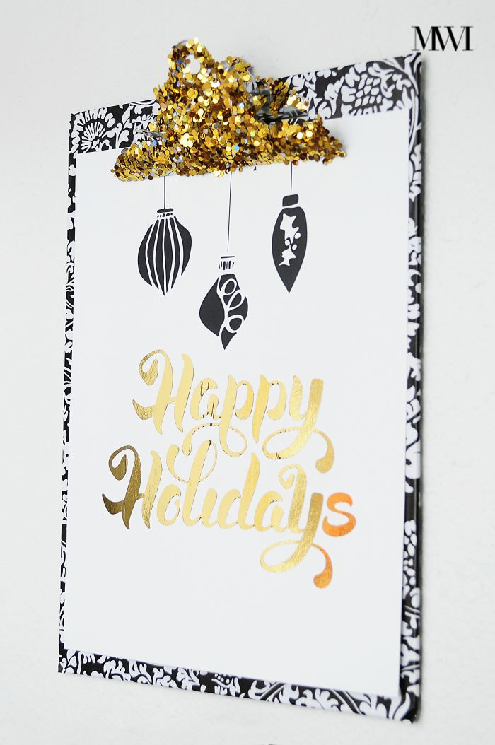 A DIY tutorial showing how to make foil art using a laminator. Easy project and very affordable! via monicawantsit.com