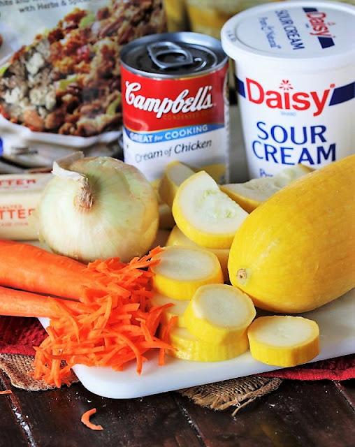 Favorite Summer Squash Casserole Ingredients Image