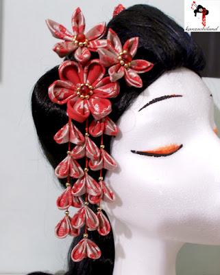 kanzashi shidare handmade kanzashiland