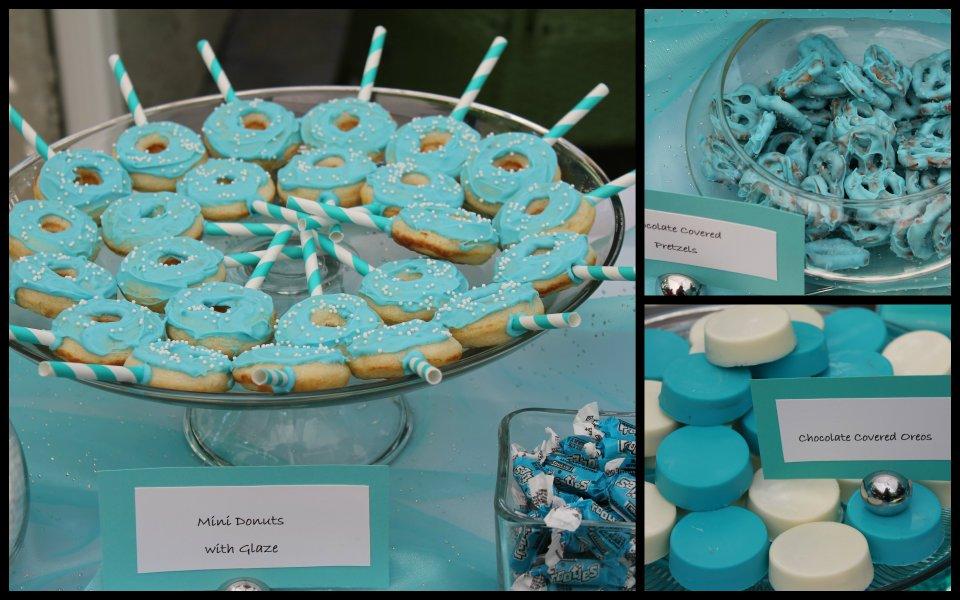 Dulce Dessert Bar Tiffany Themed Bridal Shower