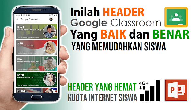 Contoh Header Google Classroom