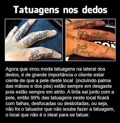 Tatuagem No Dedo Falha Mais Tattoo