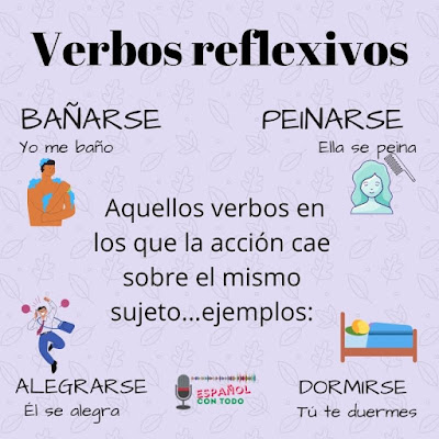 Frases con verbos reflexivos en español
