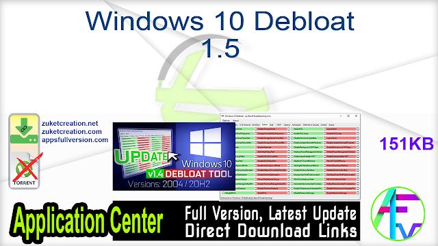 Windows 10 Debloat 1.5