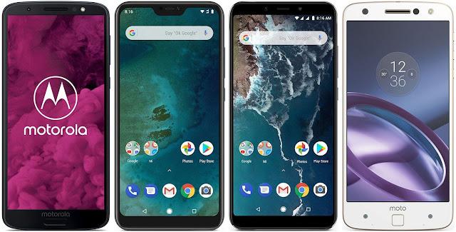 Motorola Moto G6 vs Xiaomi Mi A2 Lite vs Xiaomi Mi A2 vs Motorola Moto Z
