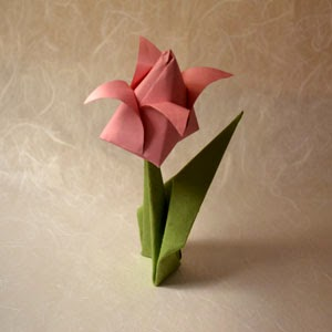 How to Make Origami Flowers - Origami Tulip Tutorial with Diagram ... | 300x300