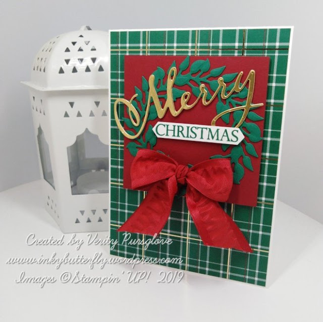 Wrapped in Plaid Merry Christmas To All Stampin Up