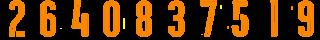 7 2Borange Kit Numbers Puma 2017