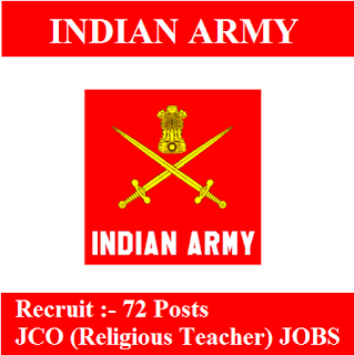Indian Army, Force, Graduation, JCO, Religious Teacher, Junior Commissioned Officer, freejobalert, Sarkari Naukri, Latest Jobs, indian army logo