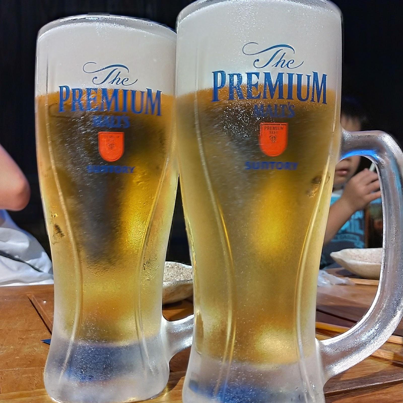 炉端亜紗 喜三郎 ビール beer サントリープレミアムモルツ