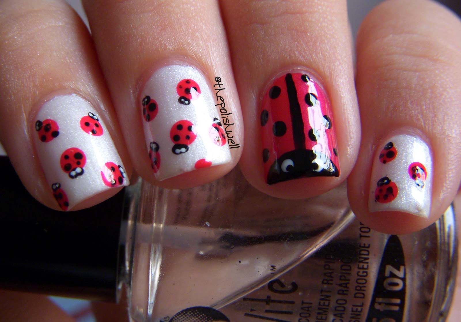 The Polish Well: Nail Ideas: Ladybug Nails!