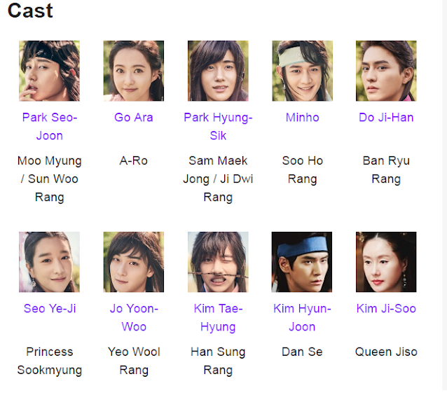 Hwarang: The Poet Warrior Youth Korean Drama Cast