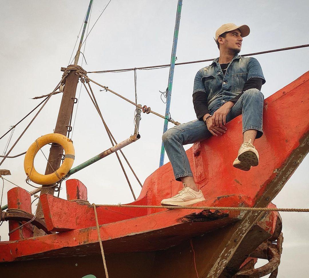 Bhavin Bhanushali on boat