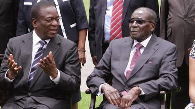 Zimbabwe's former vice president, Emmerson Mnangagwa urges President Robert Mugabe to resign
