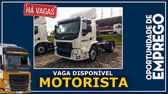 Transportadora Roda Log abre vagas para Motorista categoria C ou D