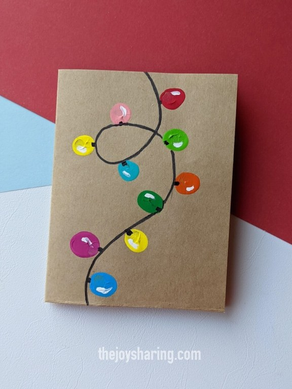 simple xmas greeting card for toddlers and preschoolers