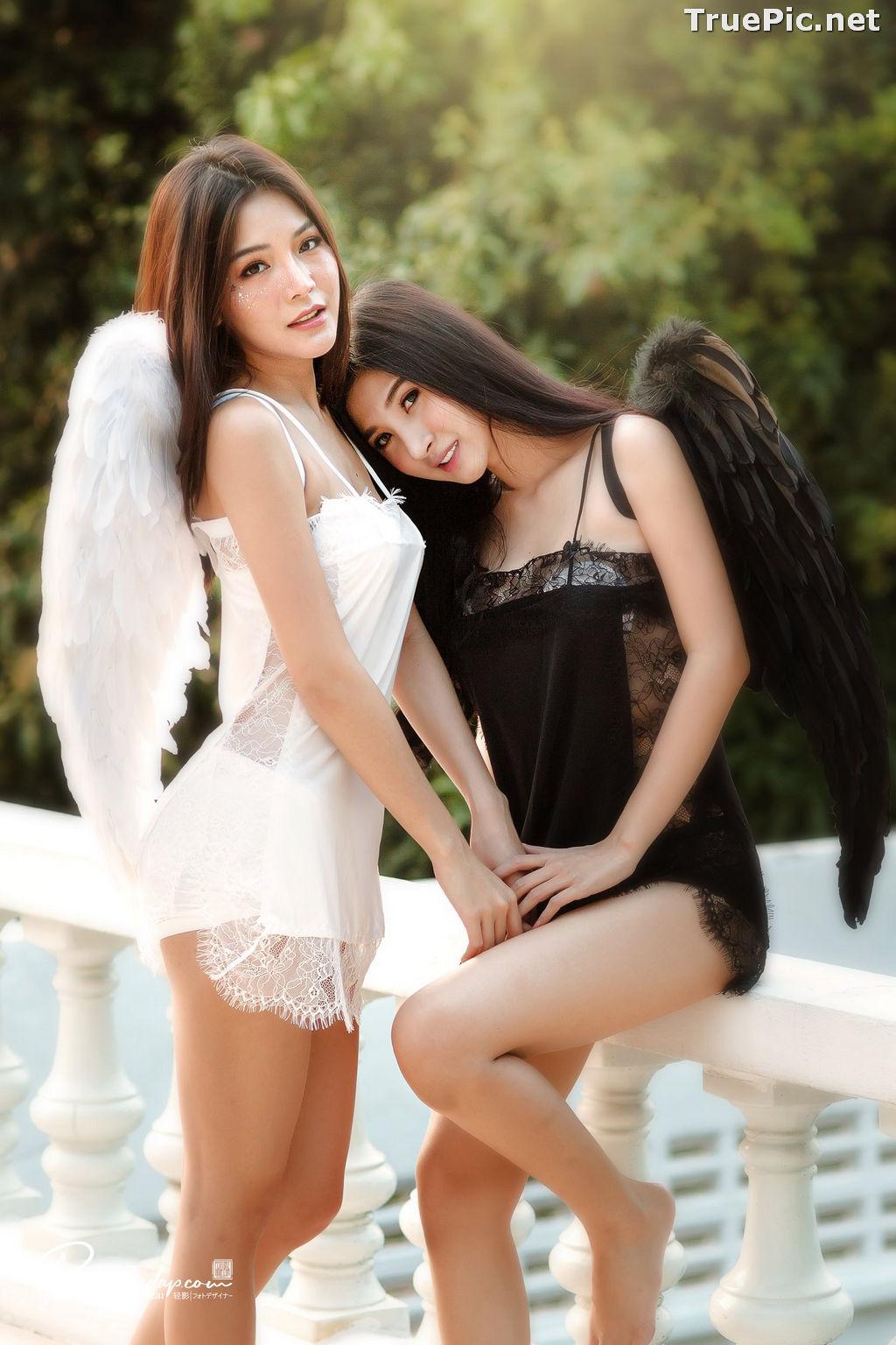 Image Thailand Model - Phitchamol Srijantanet and Pattamaporn Keawkum - Angel and Demon - TruePic.net - Picture-9