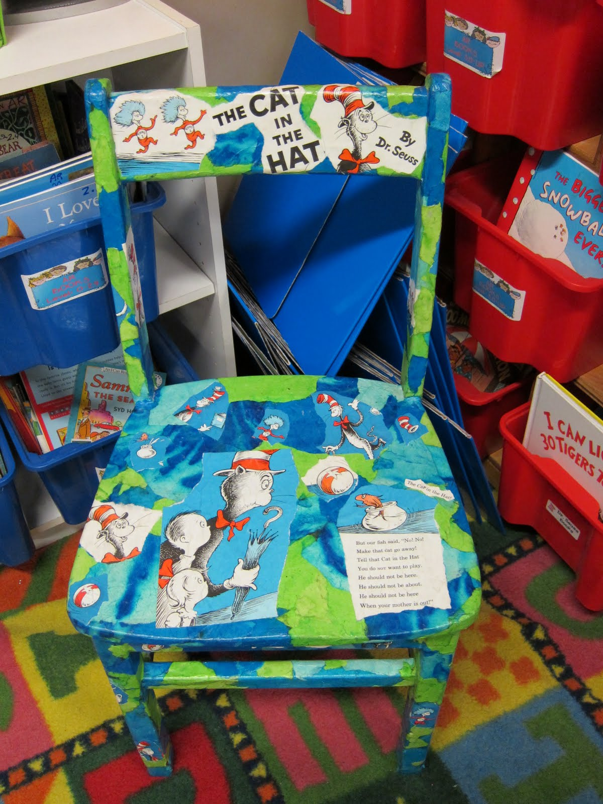 Dr Seuss Chair Ergonomic And Ottoman Seusstastic Classroom Inspirations Feeling Crafty Check