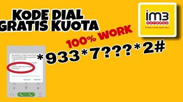 Kode Dial Kuota Gratis Indosat