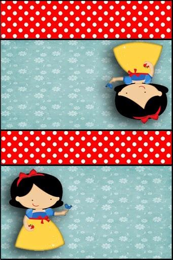 Etiquetas para Imprimir Gratis de Blancanieves Nena.