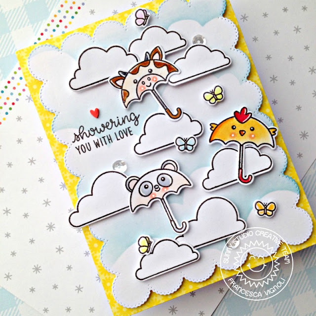 Sunny Studio Stamps: Spring Showers Everyday Card by Franci Vignoli