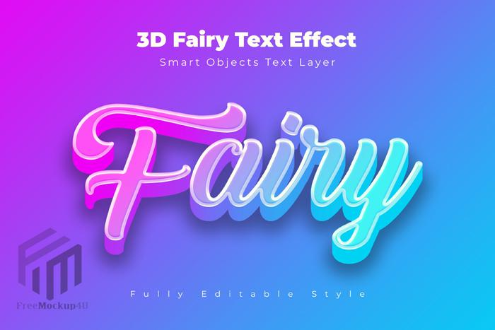 3D Fairy Text Fffect Psd Template