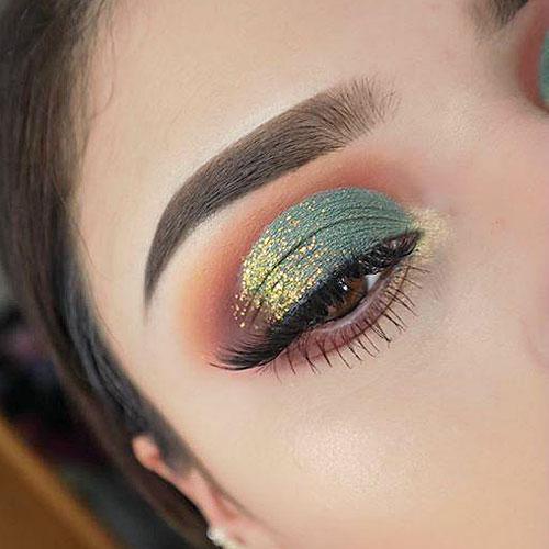 Maquillaje de ojos elegante para Navidad y Noche Buena