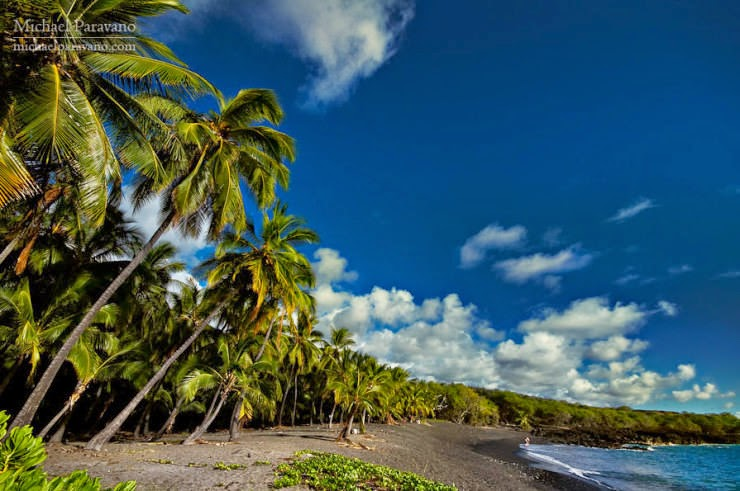 6. Black Sandy Beaches, the Big Island, Hawaii - Top 10 Unusual Beaches