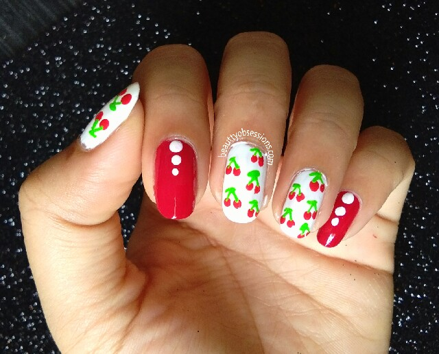 Cherry on my Nails | Easy & Fruity Nailart for Beginners | No-tool Nailart