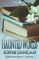 Haunted Words Sophie Duncan background a pile of books and flowers