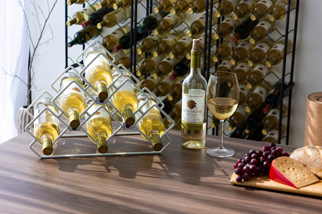 Garrafeiro decorativo aramado para vinhos