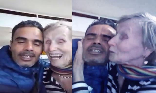 تونسي يحتفل مع حبيبته التسعينية بعيد الحب ويؤكد أنه يعشق جمالها
