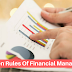List Of Unspoken Rules Of Financial Management And How To Use Them Properly