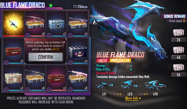 blue flame draco