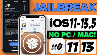 تحميل جلبريك انكفر بدون كمبيوتر من 11- 13.5 Jailbreak unc0ver ios NO Compute