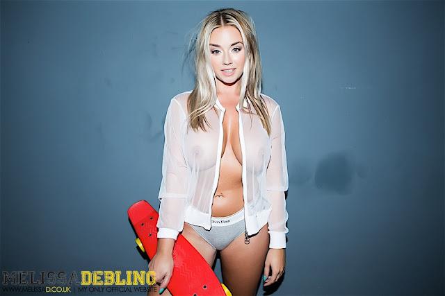 Melissa Debling skater girl strip tease full gallery