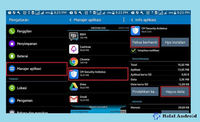 Hapus Data Aplikasi Pengunci