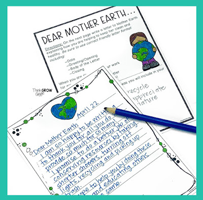 earth day writing prompts and project ideas