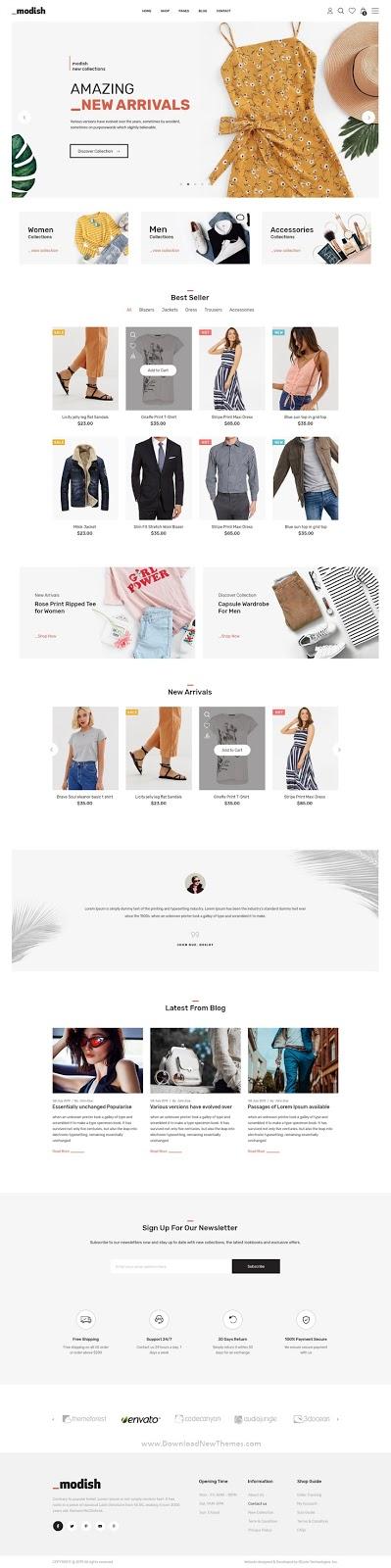 Best Multipurpose Fashion Store PSD Template