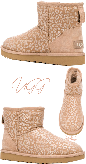 UGG leopard print snow boots #brilliantluxury