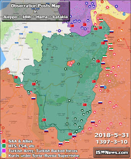turkish observation posts in syria map