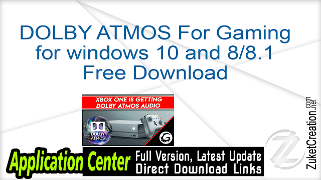 DOLBY ATMOS For Gaming Free Download