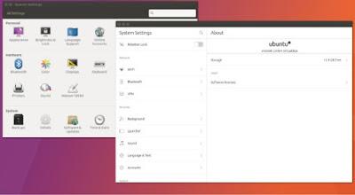 Ubuntu 17.04 zesty zapus 2 system settung GUI