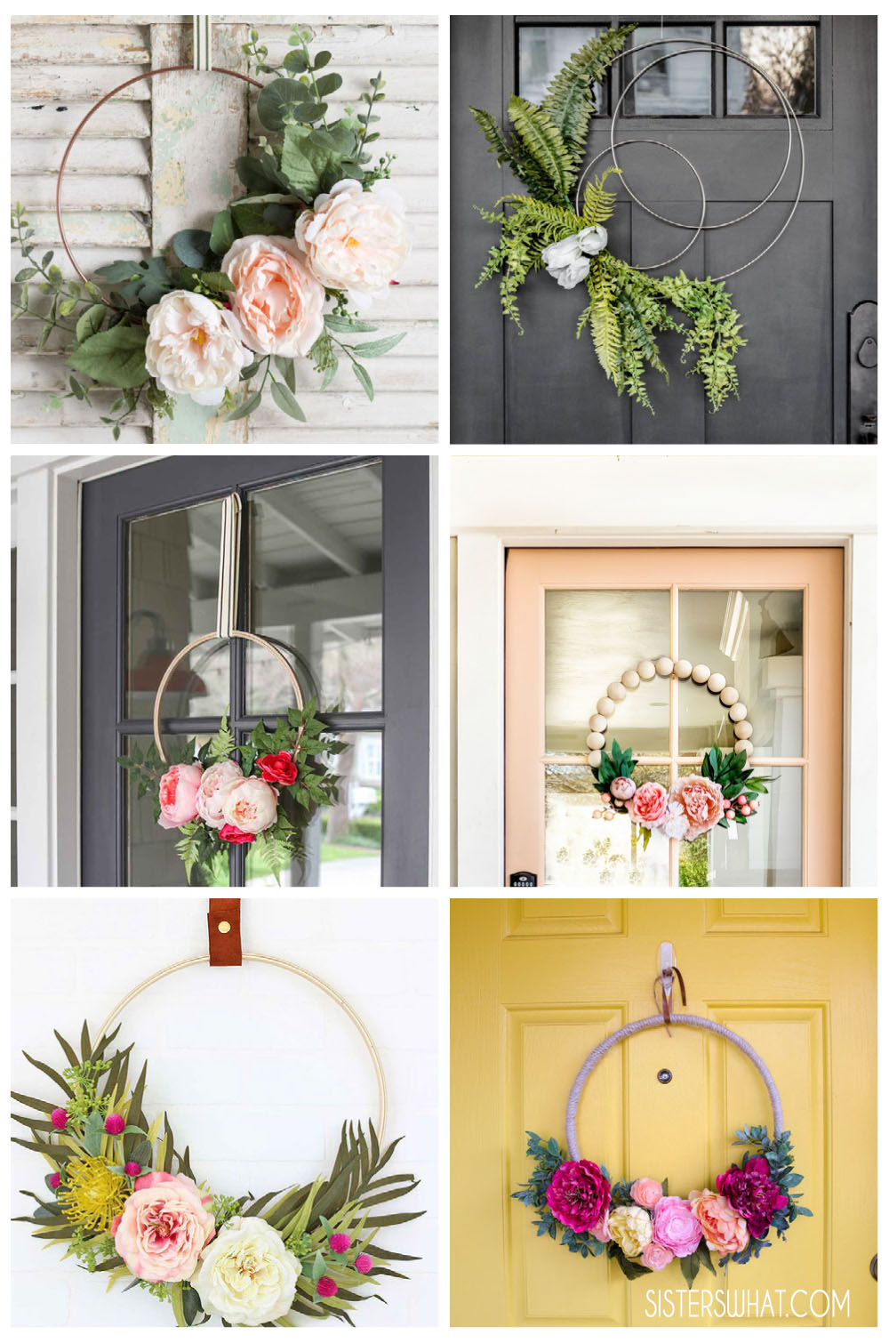 how to make a flower wreath for front door