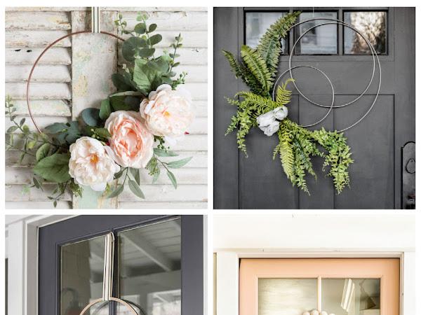 10+ DIY Modern Spring Floral Wreaths