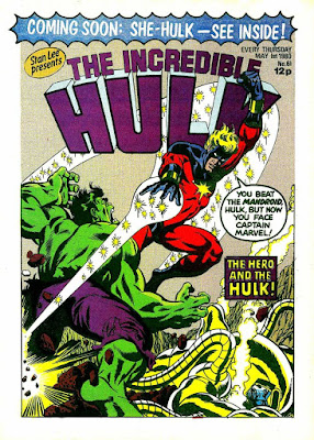 Incredible Hulk Weekly #61, Captain Marvel