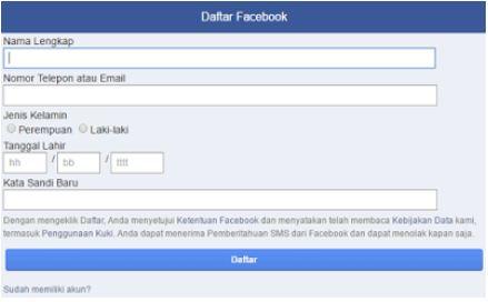 Buat status di facebook dengan mudah