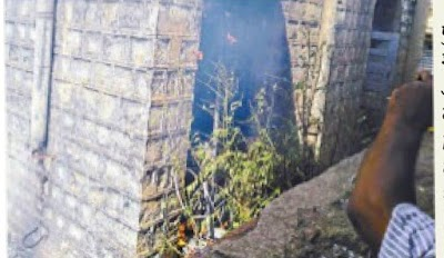 पोहरी के पुराने अस्पताल में लगी आग, मचा हड़कंप | Pohari News