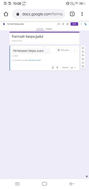 Tampilan google forms 2020